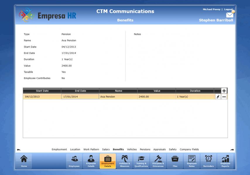 Empresa HR Software Benefits