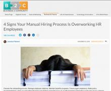 4 Signs Your Manual Hiring Process Is Overworking HR Employees