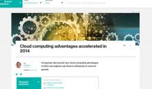 Cloud computing advantages accelerated in 2014