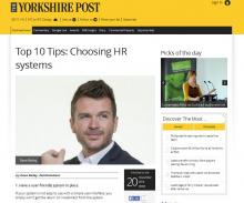 Top 10 Tips: Choosing HR systems
